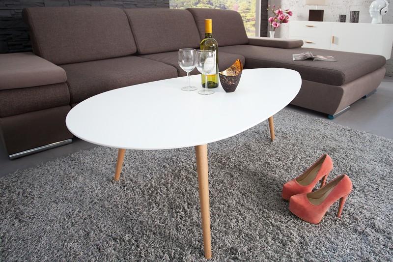 Konferenčný stolík Scandinavia 115cm biela