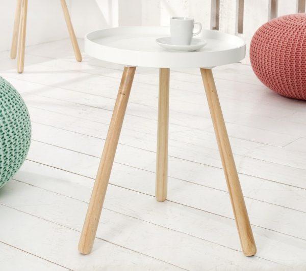 Konferenčný stolík Scandinavia 45cm biela