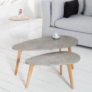 Konferenčný stolík Scandinavia Cement set 2ks