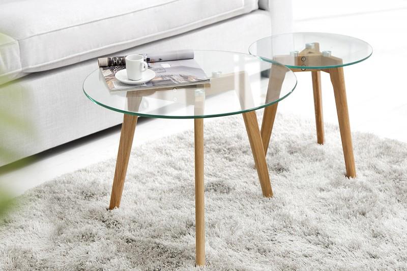 Konferenčný stolík Scandinavia Oak set 2ks