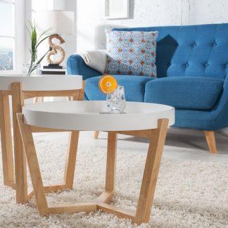Konferenčný stolík Scandinavia dvoják stolík (podnos) biela