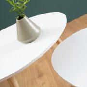 Konferenčný stolík Scandinavia set 2ks biela