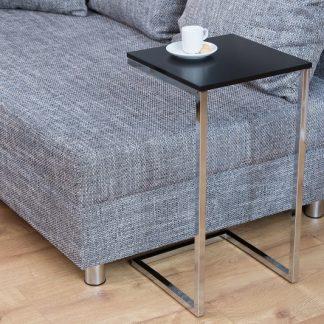Konferenčný stolík Simply 60cm čierna strieborná