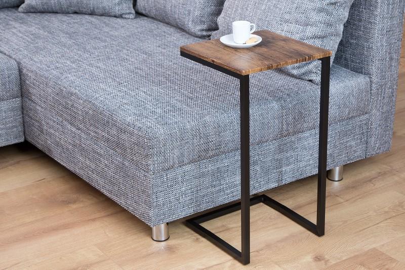 Konferenčný stolík Simply 60cm vintage čierna