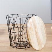 Konferenčný stolík Storage 42cm čierna Mango