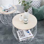 Konferenčný stolík Storage set 2ks biela