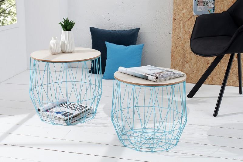 Konferenčný stolík Storage set 2ks blau