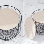 Konferenčný stolík Storage set 2ks čierna