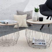 Konferenčný stolík Storage set 2ks sivá