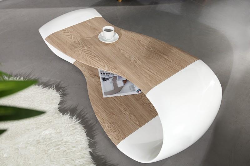 Konferenčný stolík Stream 120cm biela - dub
