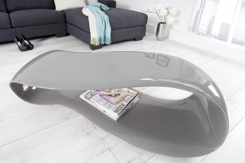 Konferenčný stolík Stream vysokolesklá sivá 110cm