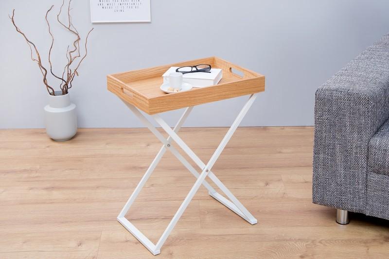 Konferenčný stolík Valet dub biela