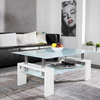 Konferenčný stolík Vita biela vysokolesklá