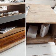 Konferenčný stolík Wotan 115cm agát Teak šedý