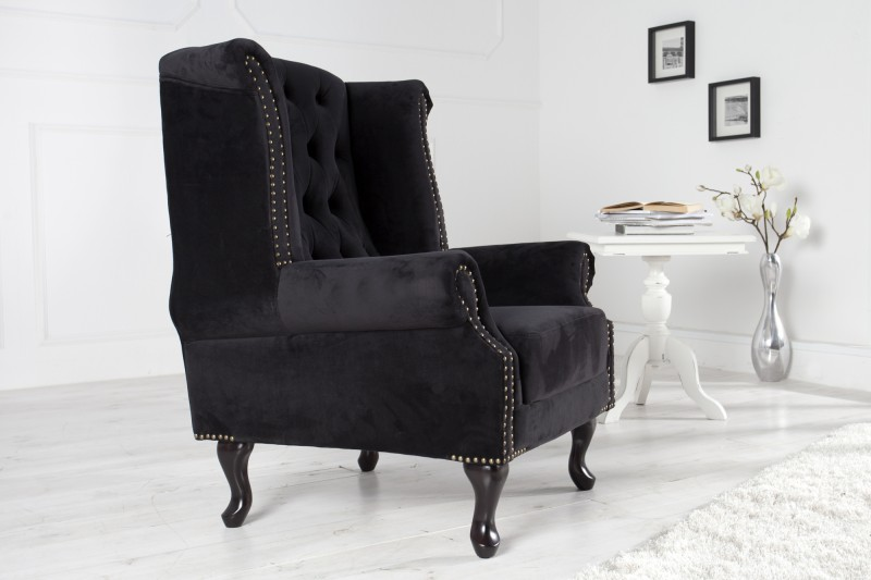 kreslo chesterfield ierna ohrensessel poto. Black Bedroom Furniture Sets. Home Design Ideas