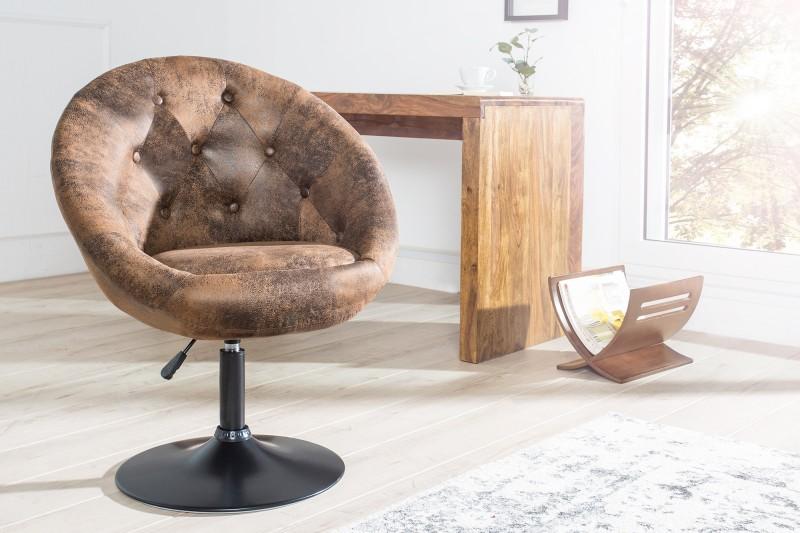 Kreslo Couture 85-100cm antik coffee Fuß