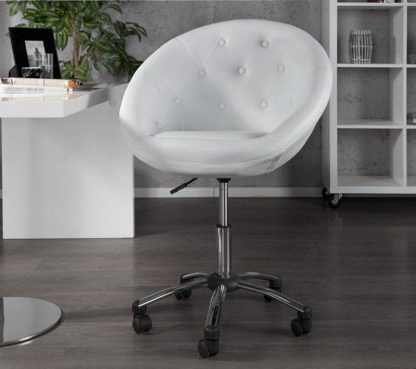 Kreslo Couture 90-100cm biela chróm
