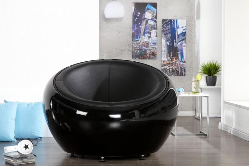 Kreslo Lounge Ball čierna