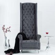 Kreslo Royal Chair antik sivá