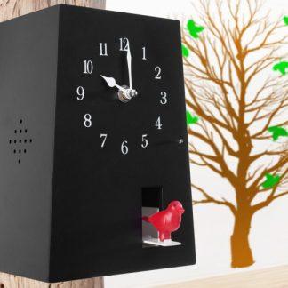Kukučkové hodinyPop Art čierna 12 versch. Töne