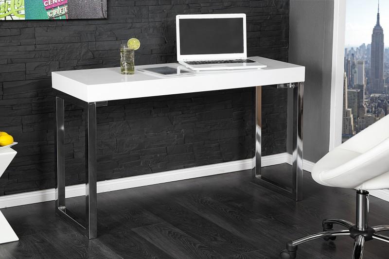 Laptoptisch White Desk 120x40cm biela