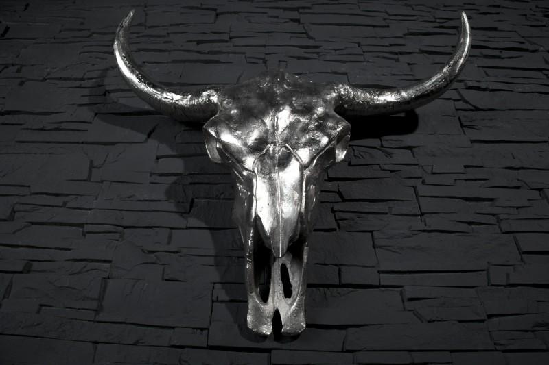 Lebka Matador strieborná Longhorn Skull