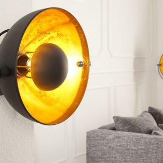 Nástenná lampa Studio čiernozlatá