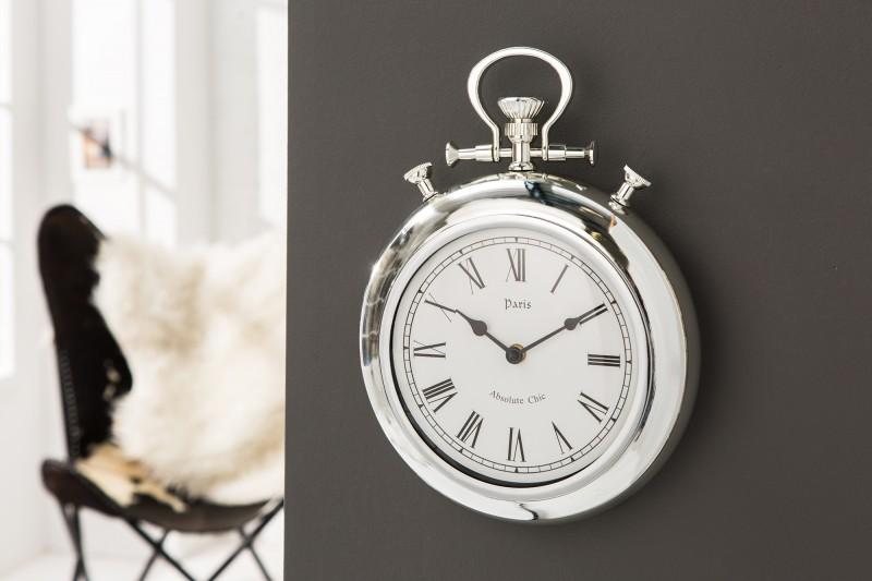 Nástenné hodiny Art Deco II 35cm chróm