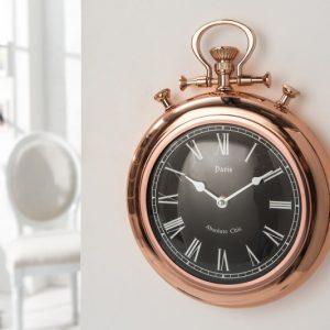 Nástenné hodiny Art Deco II 35cm meď