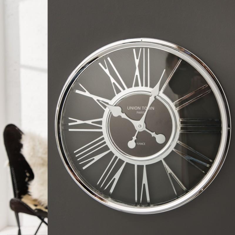Nástenné hodiny Timeless 45cm chróm