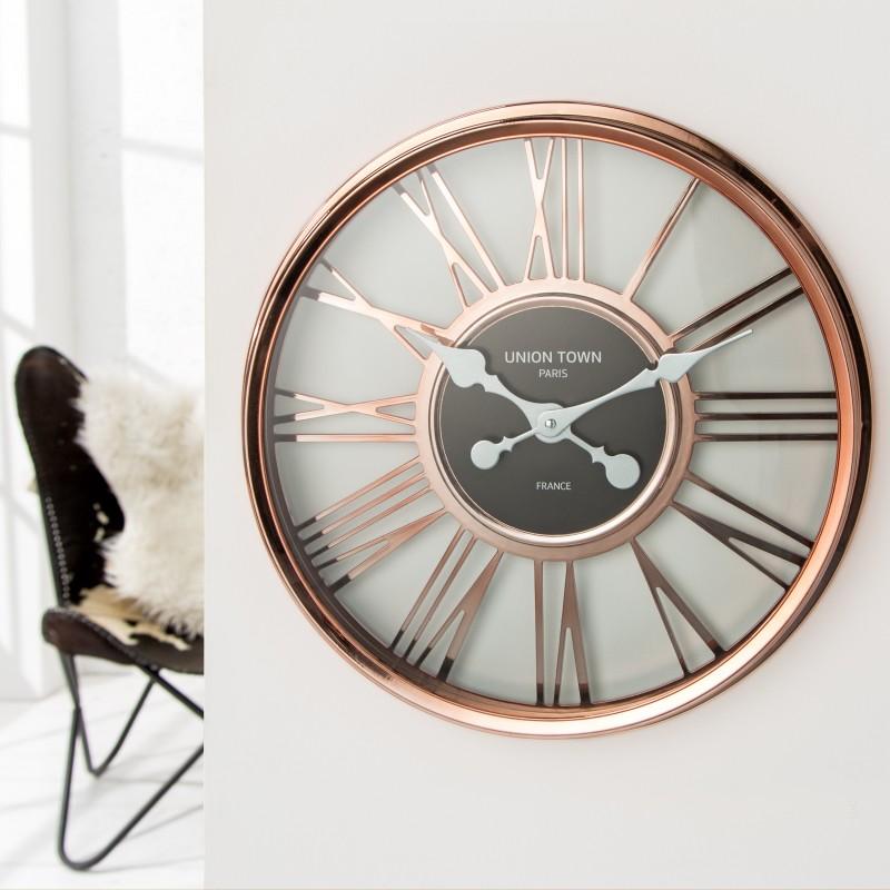 Nástenné hodiny Timeless 45cm meď