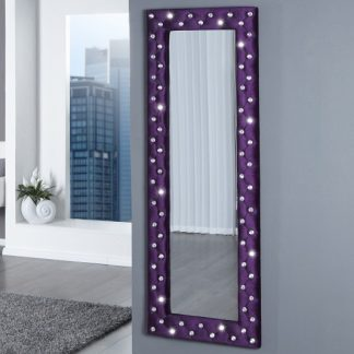 Nástenné zrkadlo Boutique lila m. Strass 170cm