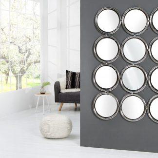 Nástenné zrkadlo Circle 130cm strieborná