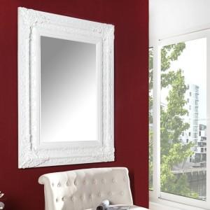 Nástenné zrkadlo Clermont 130x100cm biela