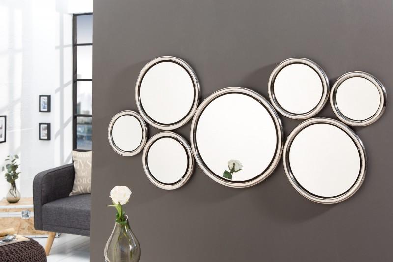 Nástenné zrkadlo Dynamic 120cm strieborná