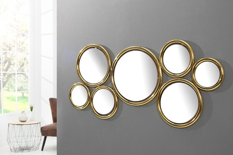 Nástenné zrkadlo Dynamic 120cm zlatá