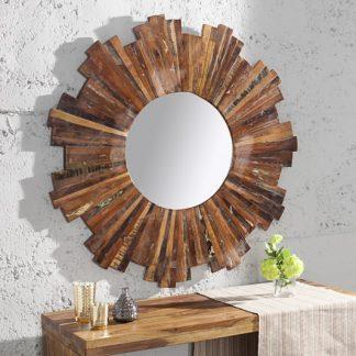 Nástenné zrkadlo Jakarta 90cm - recyklované drevo