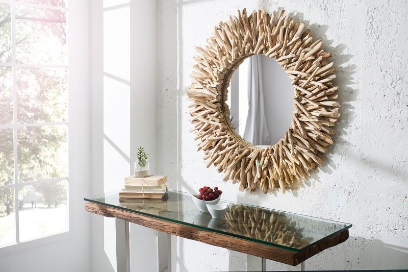 Nástenné zrkadlo Riverside 80cm - naplavené drevo