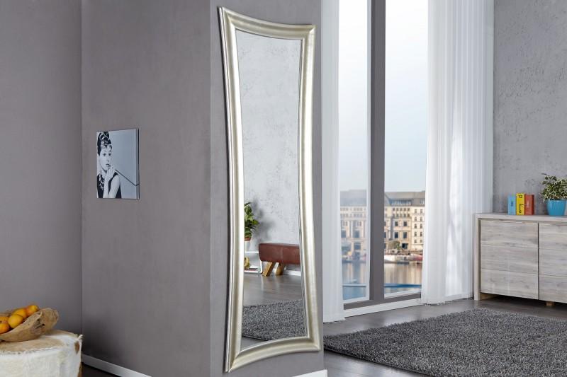 Nástenné zrkadlo Skinny 180cm strieborná - antik