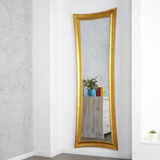 Nástenné zrkadlo Skinny 180cm zlatá - antik
