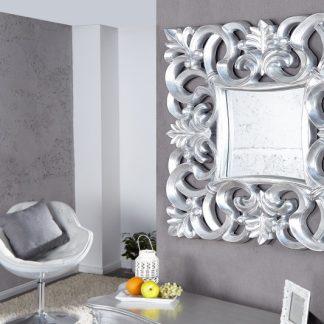 Nástenné zrkadlo Venice antická strieborná 75cm
