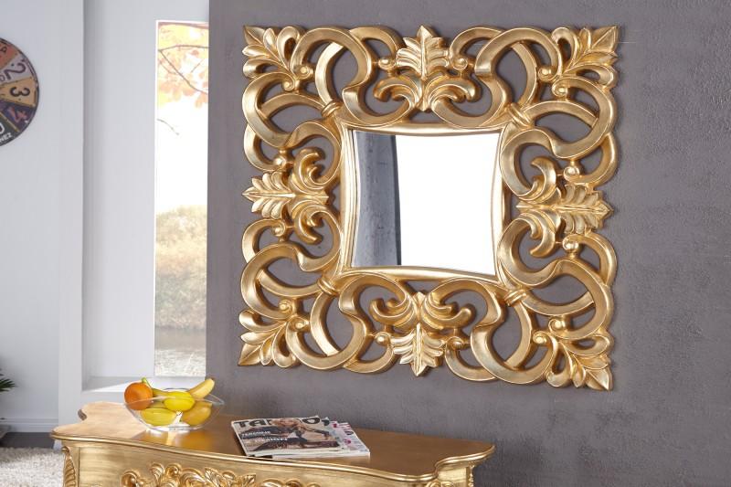 Nástenné zrkadlo Venice antická zlatá 75cm