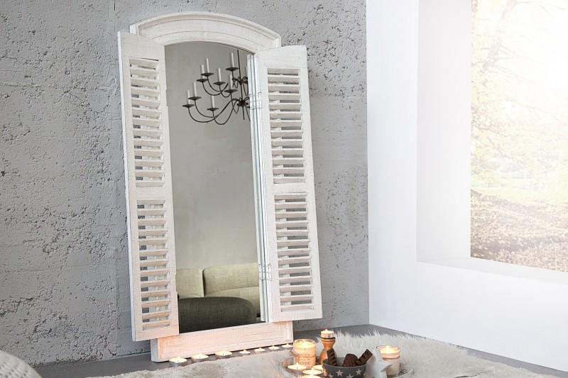 Nástenné zrkadlo View 120cm sivá vintage biela