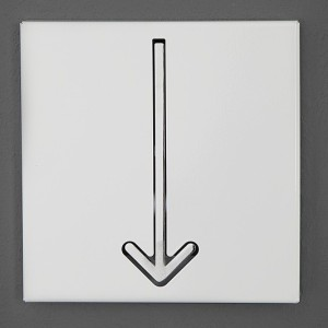 Nástenný vešiak Arrow 1er biela