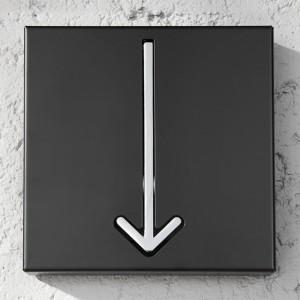 Nástenný vešiak Arrow 1er čierna