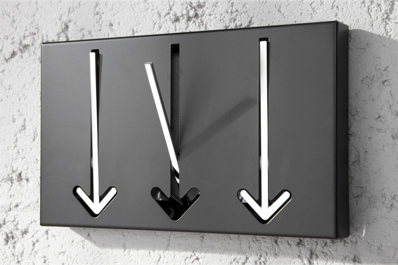 Nástenný vešiak Arrow 3er čierna