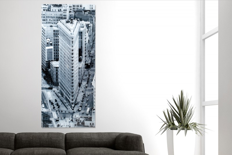 Obraz Flatiron Building 160x70cm sklo