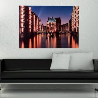 Obraz Hamburg Speicherstadt 50x70cm sklo