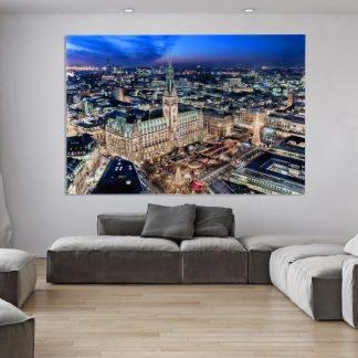 Obraz Hamburger Rathaus 100x140cm sklo