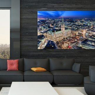 Obraz Hamburger Rathaus 50x70cm sklo